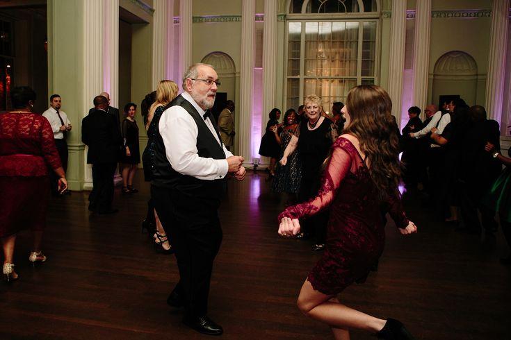 Reception Dancing at the Biltmore Ballrooms | Photo by Atlanta Photographers Leigh and Becca