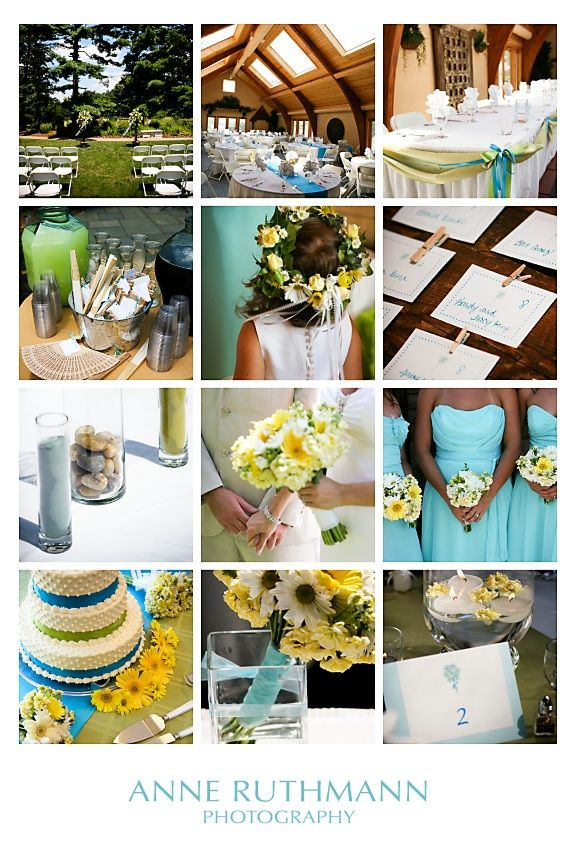teal and green wedding | Teal, Green and Yellow Wedding Inspiration - The Sweetest Occasion ...