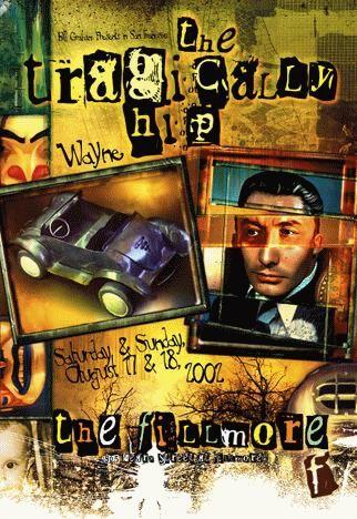 Original concert poster Tragically Hip at the Fillmore in San Francisco. 2002…
