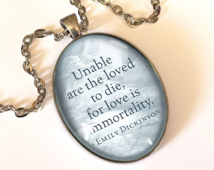 Quote Emily Dickinson, Love Pendant, 0682OPOS from EgginEgg by DaWanda.com