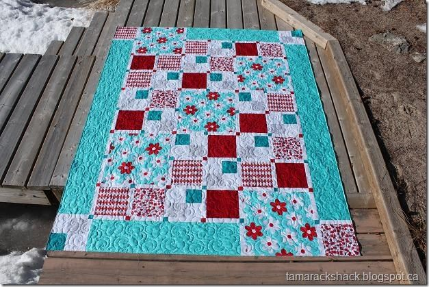 Big EZ quilt pattern by Bloom Creek - largest squares are 15?, good pattern for large scale ...