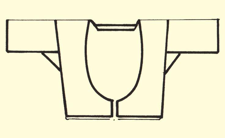 "Pattern of a short sleeved bodice (""tzakos"") for the Kefalovrysso, Peloponnese, Greece, women's costume. Peloponnesian Folklore Foundation Collection, Nafplion."