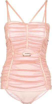 ShopStyle: JETS by Jessika Allen White Label Graceful ruched tulle molded swimsuit
