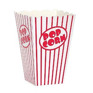 Amazon.com - Movie Theater Red and White Striped Popcorn Boxes, 10ct - Electric Popcorn Poppers