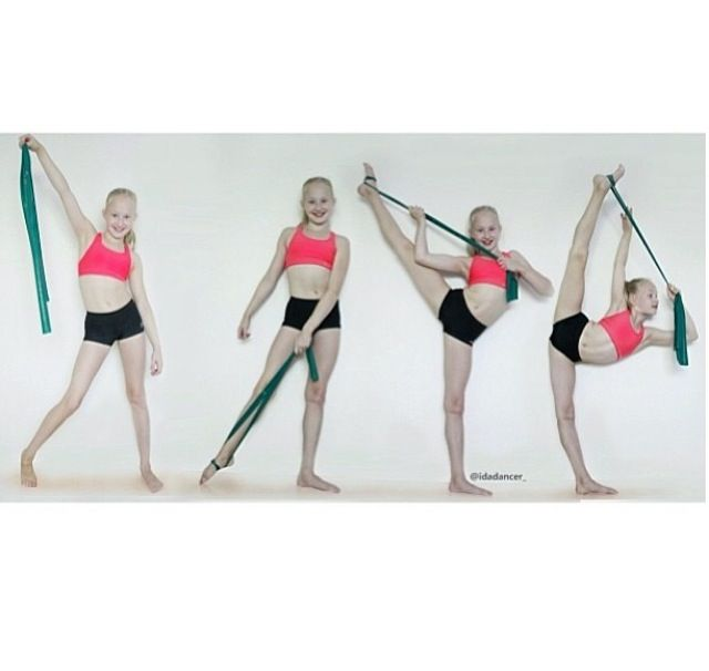 Tilt stretches with a theraband