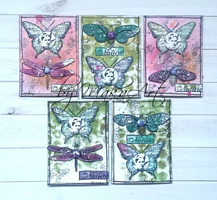 """My ATC set """"Nature""""...  Hello everyone!   Motives and themes which have connection with nature belong to the most beautiful ones. Mainly, when creating ATCs, butte..."""