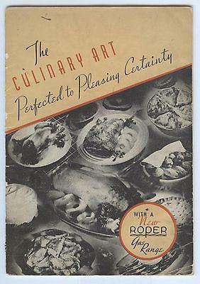 1937 George Roper Gas Range or Stove Cook Book, Rockford Illinois Cookbook