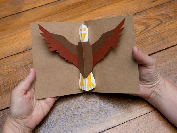 72 best images about eagle crafts activities for kids on for Pop up card craft