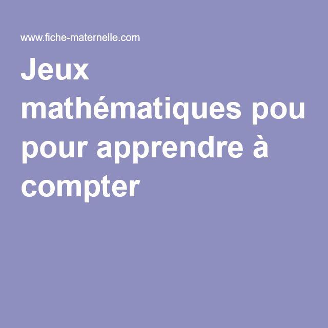 Jeux mathématiques pour apprendre à compter