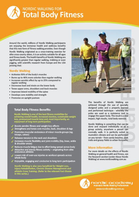 Nordic Walking Fact Sheet on Total Body Fitness  www.nordicacademy.com.au