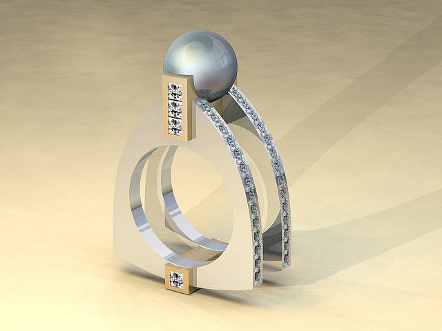 CAD pearl ring