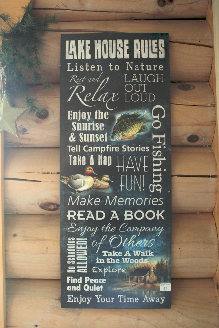 3x8 log siding hand hewn pine - We Re Loving This New Lake House Rules Sign From Wildwings Logcabin