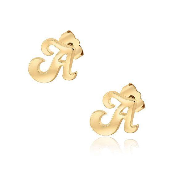Custom earrings with different earrings ingle Monogram Stud Earrings