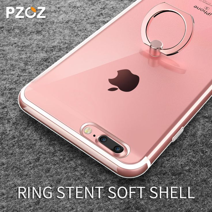 Luxury glitter transparent Soft TPU Silicon ring holder phone case for apple iphone 7 cover case for iphone7 7 plus capa