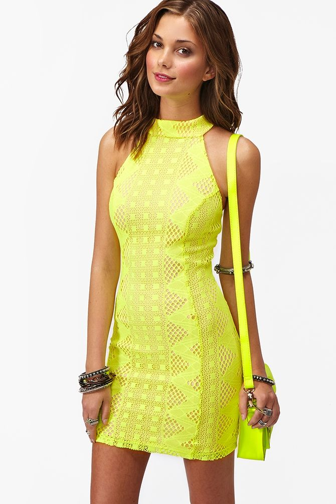 Neon Summer Dress ☻                                                                                                                                                                  ⇜•ṄεΦЙ❉€яᗛƶΣ•⇝