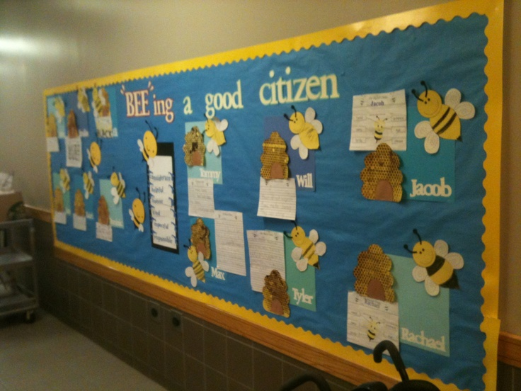 Classroom Theme Ideas Bees : Quot bee ing a good citizen bulletin board craftivity bumble