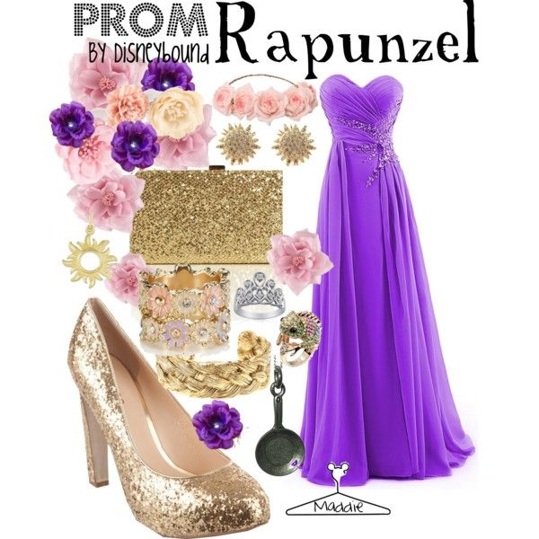 """""""Rapunzel Prom outfit. Disneybound"""" by maddiepie97 on Polyvore"""