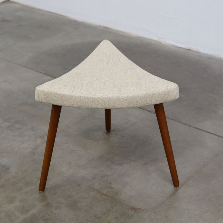 1950s Danish Modern Teak TRIANGLE Foot Stool Chair Ottoman Mid Century Vintage   Antiques, Furniture, Benches & Stools   eBay!