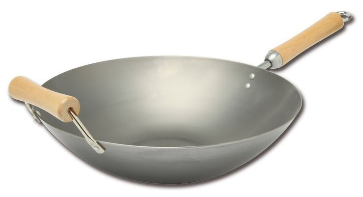 """Classic Series 14″ Carbon Steel WokBUY WOK   View all Woks  The Splendid Table: What to Look for in a Wok  """"Try a flat-bottom wok. If the burner can get really hot, these work well. Get the largest one you can find and look for one that has a long,..."""