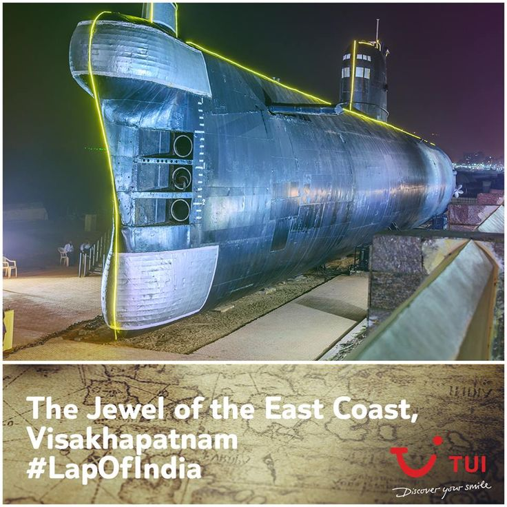 One of India's leading ports, Visakhapatnam is a sparkling jewel of India's east coast. Have you stepped into the magnificent Kursura submarine which is stationed in Vizag as a museum after 31 years of service? She was an integral part of the Indo-Pakistani War of 1971! #LapOfIndia