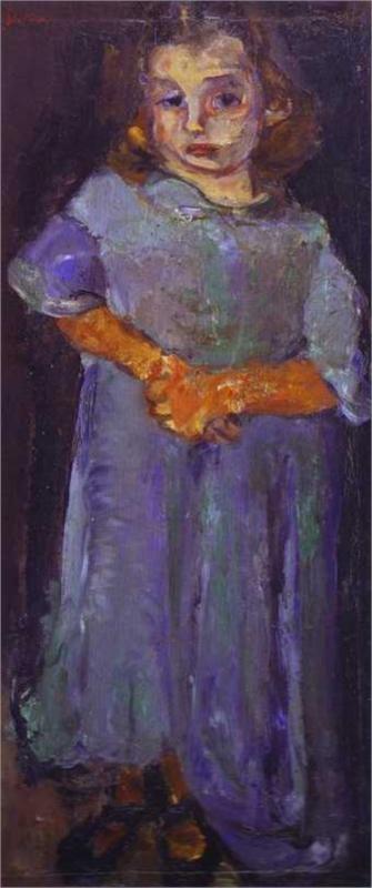 Little Girl in Blue, 1934-1935  Chaim Soutine