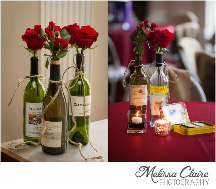 48 best images about bridal shower on pinterest bridal for Wine bottle table centerpieces