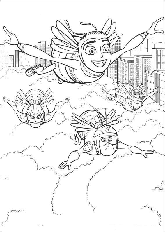Bee Movie Coloring Page 5 Is A From BookLet Your Children Express Their Imagination When They Color The