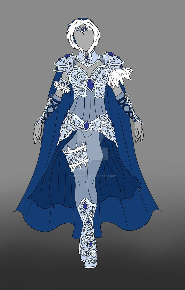 Ice Armor Anime Outfits Fantasy Clothing Art Clothes