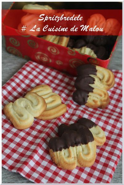 recette biscuit de noel alsacien spritz au chocolat cuisine biscuits et petits gateaux de. Black Bedroom Furniture Sets. Home Design Ideas