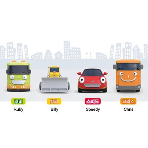 #Tayo #The #Little #Bus #Friends #Special #Ruby #Billy #Speedy #Chris Mini 4pcs Set #Toy