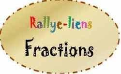 Les fractions : Rallye liens