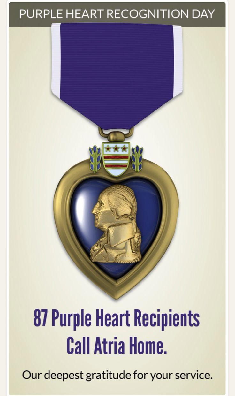 Purple Heart Infographic - Atria Senior Living Blog