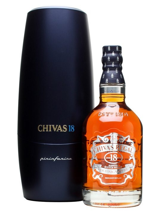 Chivas Regal 18 Year Old Pininfarina / Level 1 : Buy Online - The Whisky Exchange - A collaboration between Chivas Brothers and designers Pininfarina, best known for their work on cars over the last 80 years. The special edition bottle of 18 year old Chivas Regal is packaged in an...