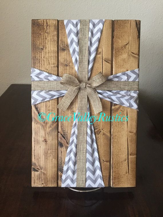 Fabric Cross/ Wooden Cross/ Wooden Cross Sign/ Burlap Cross/ Christian Home Decor/ Rustic Home Decor/ Farmhouse Decor/ Mother's Day Gift