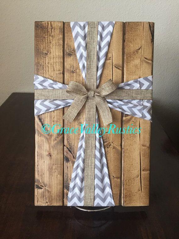Fabric Cross/ Wooden Cross/ Wooden Cross by GraceValleyRustics