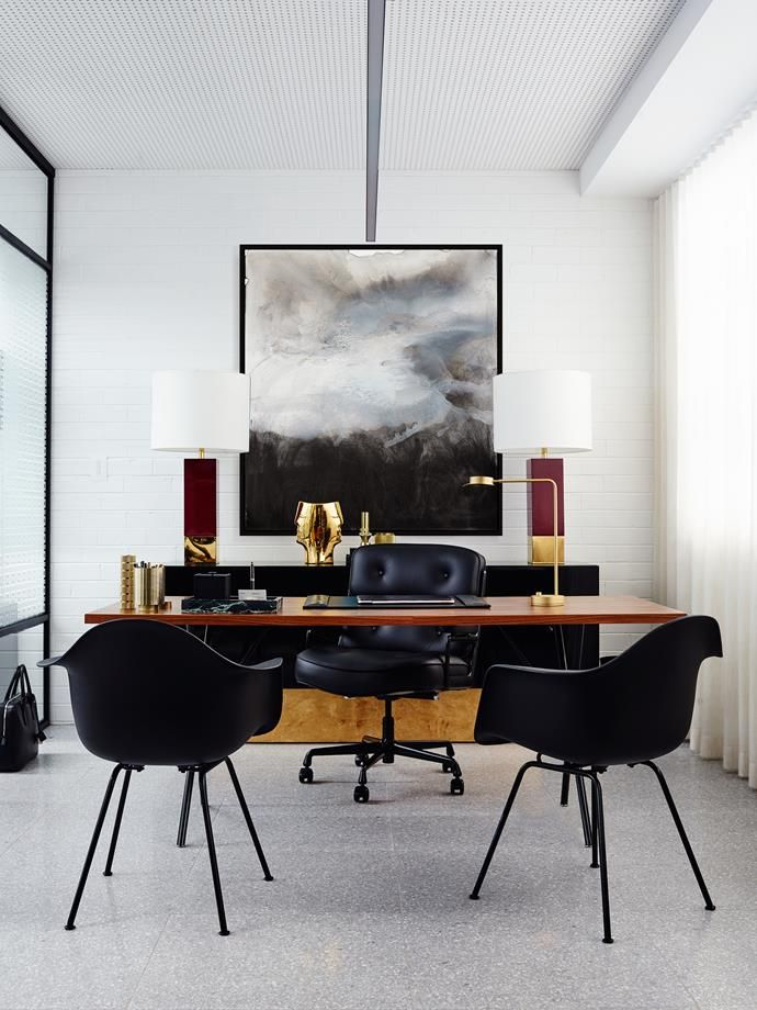 for those who love swoon worthy interiors with a modern glam pov office homethe