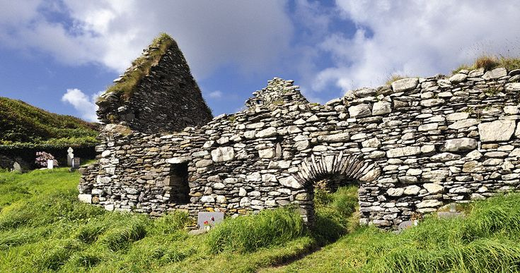 The ruin of Derrynane Abbey sits enthroned over one of Ireland's most beautiful beaches.