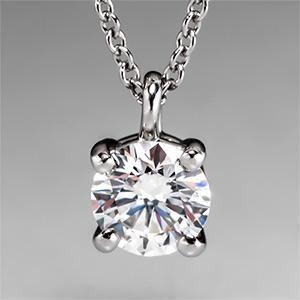 Tiffany Solitaire Diamond Pendant Necklace in Platinum - EraGem $2,999.00