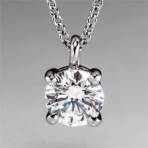 Tiffany Solitaire Diamond Pendant Necklace in Platinum - EraGem $2,999.00