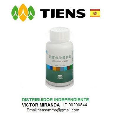 Equipo Tiens España: Espirulina en cápsulas Tiens