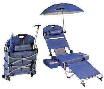 The LoungePac Conveniently Folds Out to Provide a Variety of Options #beach #chairs trendhunter.com