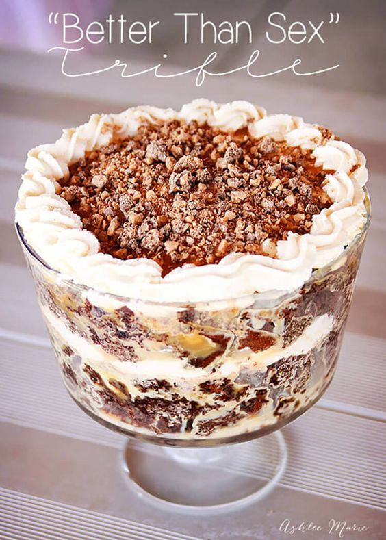 """this """"better than sex"""" trifle is a delicious make ahead dessert that everyone loves"""