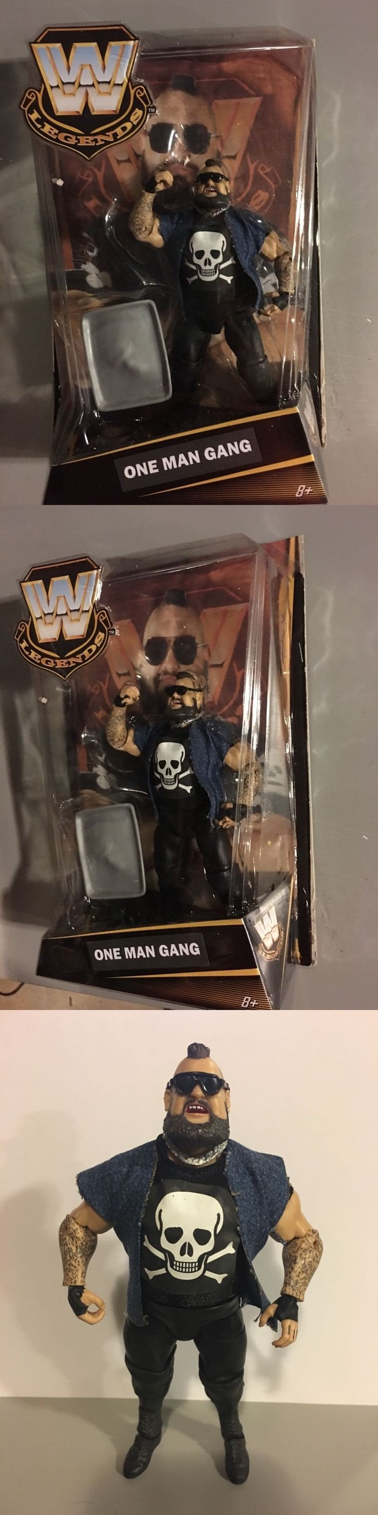 Sports 754: Custom Mattel Elite One Man Gang Moc Wwe Wcw Nwa Legends Classic Wwf Ljn Jakks -> BUY IT NOW ONLY: $65 on eBay!