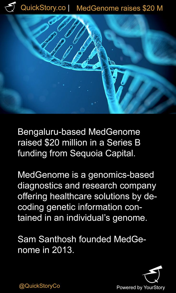 In July 2015, MedGenome raised $20 million in a Series B funding from Sequoia Capital.