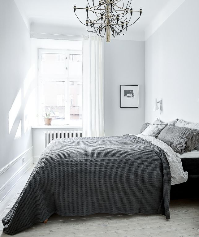 Simplistic Grey Master Bedroom: Simple Home With Clean Lines
