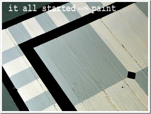 painted porch rug [saving the best for last] - It All Started With ...