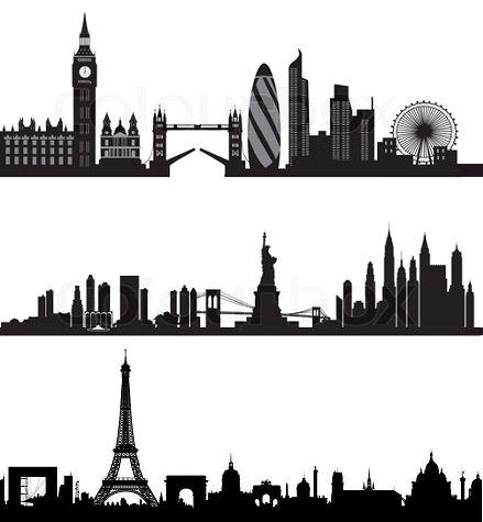 London, New York and Paris