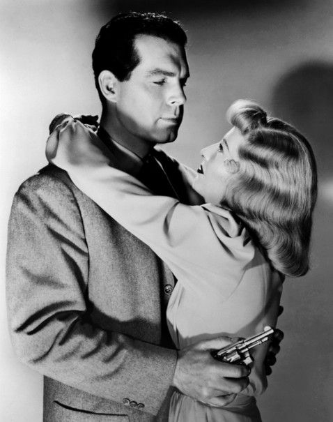 Barbara Stanwyck and Fred MacMurray in Double Indemnity 1944 Paramount.