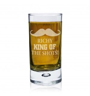 Moustache Bubble Shot Glass | Glassware | Exclusively Personal