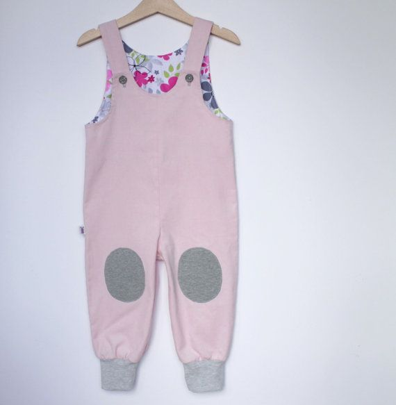Baby Girl overall (size 3-24 Months)    Baby girl dungaree made from very soft corduroy cotton fabric and colorful cotton lining on top. Your little